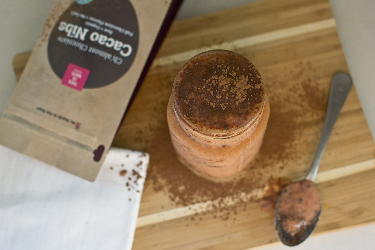 Chocolatey Cacao Nibs Smoothie - This Is Nuts